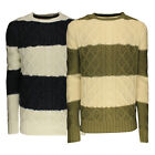 Soulstar Mens Ham Knitted Jumper Long Sleeved Adults Chunky Knit Sweater Top