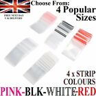 100 x Plastic GRIP SEAL ZIP LOCK BAGS RESEALABLE REUSABLE Pouches * 5 x THICKER!