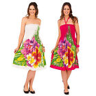 Pistachio Womens Floral Print 2 in 1 Bandeau Dress New Ladies Holiday Maxi Skirt