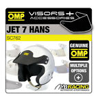 SC762 OMP JET 7 HANS RALLY HELMET OPTIONAL EXTRA VISORS & ACCESSORIES BY OMP