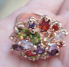Multicolor AAA Swiss Zircon 18k Rose Gold Plated Ring