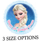 Elsa from Frozen fondant icing round cake topper edible photo