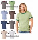 Bella + Canvas Mens Heather Ringer Jersey T-Shirt Tee S M L XL 2XL 3055-3055C