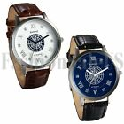Luxury Men's Date Watch Leather Stainless Steel Military Analog Quartz Watches