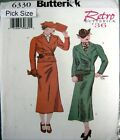 Butterick Sewing Pattern 6330 Ladies Retro 30s Wrap Jacket Suit Pick Size