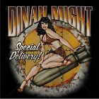 SPECIAL DELIVERY PIN-UP GIRL DINAH MIGHT SITTING ON BOMB T-SHIRT WWII WORLD WAR