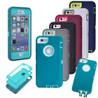Heavy Duty Shockproof Built Screen Armor Case Cover For iPhone 5S 5C 6 6S 7 Plus