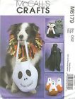 McCall's 6179 Treat Bag, Ghost, Pumpkin, Greeters and Collar    Sewing Pattern