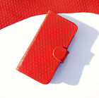 Book Wallet Etui Phone Cover Case Cell phone Genuine Leather