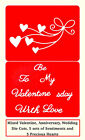 10 Valentines Die Cuts, 5 Flying Hearts, 5 Valentine's Words  . Any Colour/Card!