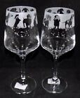"""New Etched Large """"DACHSHUND WINE GLASS(ES)"""" - Optional Gift Box - Fantastic Gift"""