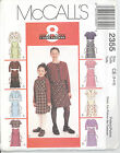 McCall's 2355 Girls' Unlined Jacket and Dress or Jumper - Size 3, 4, 5
