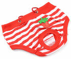 Female Sanitary Dog Undie Underpants Diaper Nappy Underwear Pants Strawberry Red