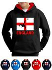 Kids England Football Top Hoodie World Cup Euro Soccer Hooded Sweatshirt