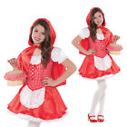 Girls Little Red Riding Hood Fancy Dress Outfit New Childrens Fairy Tale Costume