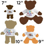 1 x PERSONALISED NAME IMAGE WHITE TEDDY SOFT TOY T SHIRT WHOLESALE BULK