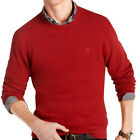 NWT IZOD Solid Sueded Fleece, Red Dahlia Sweater Men's Sizes Medium, Large