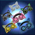LED Light Up Cat Ear Headphones Earphone Glowing USA SELLER FAST FREE SHIPPING!
