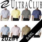 UltraClub Mens Classic Wrinkle-Free Short-Sleeve Oxford. 8972