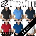 UltraClub Ladies Egyptian Interlock Cotton V-Neck Polo Shirt. 8507
