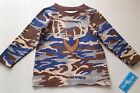 Boys WALLY & WILLY boutique long t shirt 2T 3T or 4T NWT camo deer applique blue