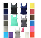 Womens 6 Pcs 100% Cotton Tag less Ladies Tank Tops , Color may very