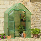 GARDEN COMPACT WALK IN GREENHOUSE FRAME SHELVES & REINFORCED COVER COLD FRAME