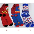 Super Hero The Flash / Superman / Captain America Crew Socks ONE PAIR