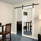6 / 6.6 FT Large Stainless Sliding Barn Wood Door Closet Hardware Track System