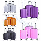 3Pcs Travel Luggage Set Bag ABS+PC Trolley Suitcase Wheels Code 20''/24''/28''