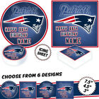 Round New England Patriots Fondant Icing Personalised Cake Topper