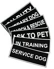 Patches for Harness Service Dog In Training Police K9 Security Do Not Rescue