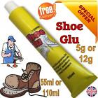SHOE GOO SHOE GLUE GLU OR NOZZLE MEND REPAIR TRAINER BOOT HEELS SOLES LEATHER