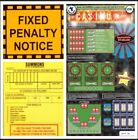 £10 FAKE NOVELTY LOTTERY SCRATCH CARDS + JOKE PARKING TICKETS!