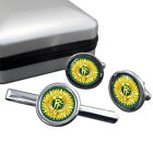 Irish Defence Forces (IDF) Cufflink & Tie Bar Set
