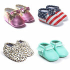 New Fashion Tassel Baby Soft Leather Shoes Boy Girl Infant Toddler Moccasin