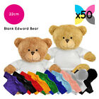 50 EDWARD TEDDY BEARS SOFT TOYS + BLANK PRINTABLE SUBLIMATION T-SHIRTS / HOODIES