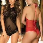 Women's Sexy Lingerie Babydoll Sleepwear Backless Lace Dress Underwear G-string