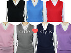 LADY'S V-NECK CLASSIC SOLID SWEATER VEST (LSV-123)