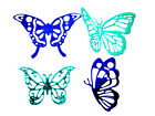 2 Sets of 4 Assorted Butterfly, Butterflies Die Cuts, Ch. Any Colour/Card!