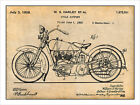 1928 Harley Davidson V Twin Motorcycle Patent Print Art Drawing Poster 18 X 24 $24.99 USD on eBay