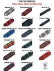 Tartan Ribbon VARIOUS CLANS END OF ROLL LENGTHS SAMPLE LENGTHS