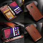 Luxury Classic Wallet Leather Case Flip Cover Book For Alcatel Phone Models