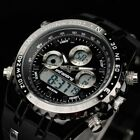 INFANTRY Mens Digital Quartz Watch Chronograph Date Day Sports Army Black Rubber