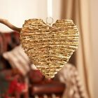 Gold Glitter Twig Heart Hanging Home Wedding Party Venue Decoration 22cm