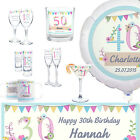 Personalised Vintage Bunting 18th 21st 30th 40th 50th Birthday Anniversary Gift