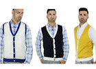 BLUE OCEAN TWO-TONE CASUAL SWEATER VEST (SV-943)