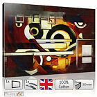 BROWN GEOMETRIC ABSTRACT MODERN - CANVAS WALL ART FRAMED PRINTS PICTURES PHOTO