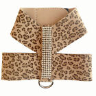 Micro Suede Crystal Dog Harness - Leopard