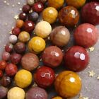 2017 4 6 8mm Natural Faceted Mookaite Gem Cut Round Ball Loose Beads